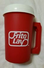 Vintage Frito Lay Insulated Travel Mug Cup Red White