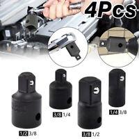 "4x Drive Sockets Set Air Impact Socket Convertor Reducer Adaptor 1/4"" 3/8"" 1/2"""
