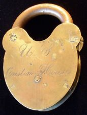Pre-Civil War Portsmouth, New Hampshire US Custom House Padlock by D & M Co.