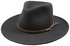 Stetson Bozeman Black Wool Crushable Cowboy Western Hat - Medium