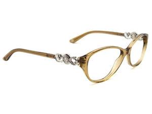 Versace Eyeglasses MOD. 3161 617 Crystal Brown Oval Frame Italy 51[]15 135