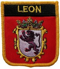 Leon Spain Shield Embroidered Patch