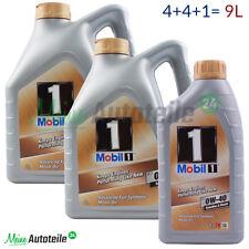 MOTORÖL MOBIL 1 9 Liter 0W-40 New Life Nachfolger 4L+4L+1L= 9L PREISAKTION NEU