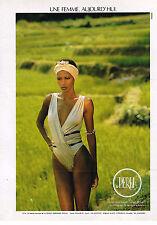 PUBLICITE ADVERTISING 024   1987   LA PERLA  corset soutien gorge sous vetements