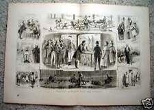 Political Election Scenes -London 1880 Engraving