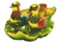 Feng Shui Mandarin Ducks/ Love Birds  on a Lotus Leaf for Love and Fidelity