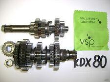 80 81 - KAWASAKI KDX80 KDX80 TRANSMISSION TRANNY TRANS GEARS SET CRANK GEARS