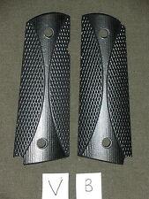 V 1911 Grips Chk Bars Black Dymondwood 1911A1 Colt Kimber Springfield Micarta
