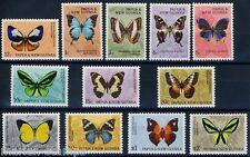 PAPUA NEW GUINEA BUTTERFLIES SC#209/20 SG#82/92  NH