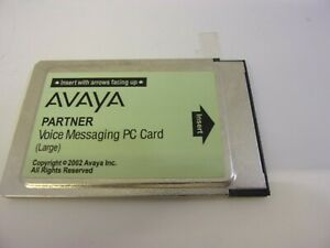 Avaya Partner Voice Messaging Mail Large PC Card ACS AT&T Lucent VoiceMail
