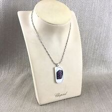 Dichroic Glass Necklace Pendant Silver Plated Art Hand Made