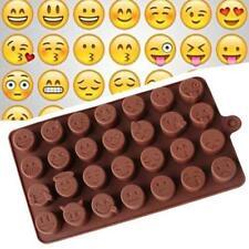 Silicone Emoji Face Cake Chocolate Candy Fondant Ice Soap Baking Tray Mold Mould