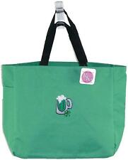 Happy St. Patrick's Day Green Tote Bag Green Beer Irish Shamrock Monogram Gift