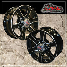 16x6 6 Stud Stealth Alloy Mag Wheel Trailer Caravan Camper Jetski Boat High Load