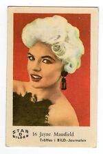 1960s Swedish Film Star Card Star Bilder D #16 US Sex Symbol Jayne Mansfield