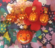 Lot of 5 Jack O'Lanterns OWC Pumpkins Old World Christmas Halloween Ornaments