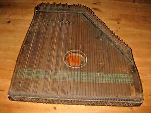 Piano Harp Zitter Antik Holz