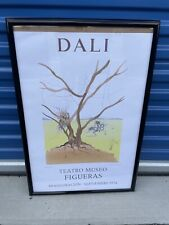 Lithograph Poster Salvador Dali Exhibition Teatro Museo FIGUERAS, 31x21 Framed