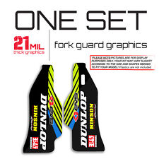 2004 2005 KXF 250 - ONE SET FORK GUARD GRAPHICS MOTOCROSS DECALS 21mil