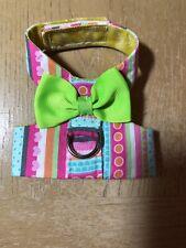 Pink Stripe Handmade Dog Harness Vest XXXS 2321