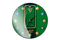 Billiards Pool Clock 12 Ball Man Cave