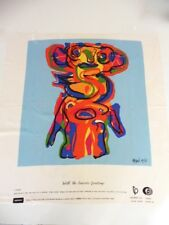 """KAREL APPEL PRINT VINTAGE 1968 """"THE MONSTER WITH THE SEASON'S GREATTING""""NEUF"""