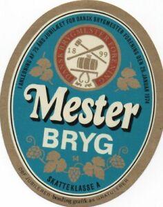 Old Carlsberg  Copenhagen Beer Label Mesterbryg DBF Anniversary