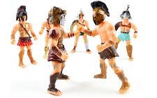 Set of 6 Gladiator Warrior Fighter Roman Soldier Action Figures Sparta warrior