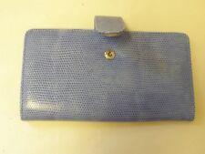 Burton Light Blue Checkbook Credit Card Purse Snap Closure