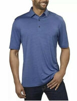 Greg Norman Men's Play Dry ML75 Tech Performance Golf Polo, size X-Large Blue