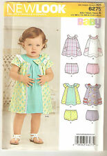 New Look Sewing Pattern 6275 Babies Dress With Panties or Nappy Covers Sz NB-L