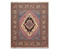 """7'11"""" x 9'11"""" Hand Knotted Super Fine Romanian Serapi Wool Area Rug Pink"""