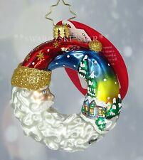 Christopher Radko New Little Gem Santa's Silent Night Wreath Christmas Ornament