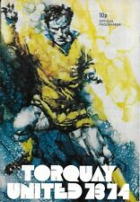 Football Programme>TORQUAY UNITED v PLYMOUTH ARGYLE Aug 1973 FLC