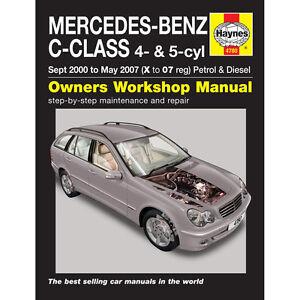 Mercedes C Class  Haynes Manual 2000-07 1.8-2.3 Petrol 2.2 2.7 Diesel