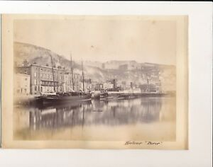 Albumen print circa 1880 Dover harbour Union hotel Convalescent home FPP2
