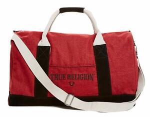 True Religion Men's TR Duffle Bag in Ox Blood