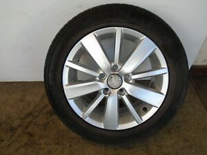 "VOLKSWAGEN VW GOLF MK6 16"" ALLOY WHEEL 6.5Jx16 ET50 5K0601025S 205/55R16  REF2"