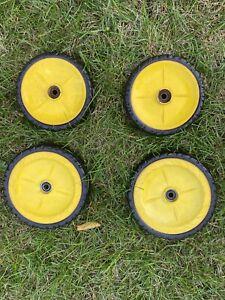 """John Deere JS36 22"""" Pushmower  OEM Rear Wheels Set Of 4 Self Propelled Used"""