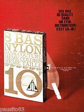 PUBLICITE ADVERTISING 026  1964  JIL  bas nylon sans couture