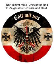 Weltkrieg 1914/18 Wanduhr Gott mit Uns Adler Kaiserreich