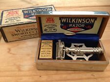 Vintage Wilkinson Sword Empire Model Safety Razor with NOS Blades 1933 - 1935