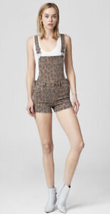 Blank NYC  ShortAll Catwalk Fitted Leopard Overalls Size 25 NWT Retails 108.00