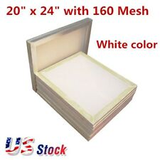 "6pcs 20"" x 24"" Aluminum Silk Screen Printing Frame with 160 Mesh White - US"