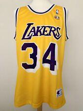 Los Angeles Lakers 90s 2000s O'Neal NBA Champion USA basket shirt jersey maillot