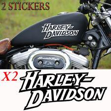2 sticker autocollant harley davidson iron sportster reservoir moto custom skull