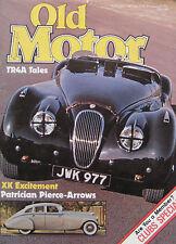 Old Motor magazine 02/1981 featuring Jaguar XK120, NSU Ro80, V12 Pierce-Arrow