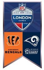 NFL LONDON GAMES LAPEL PIN CINCINNATI BENGALS VS. LOS ANGELES L.A. RAMS WEMBLEY