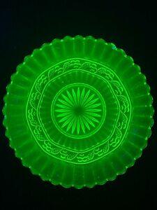 Beautiful Green Uranium Glass Bowl