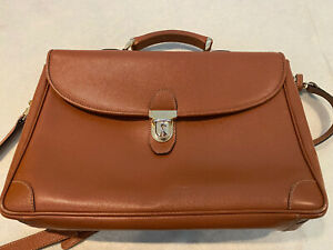 T. Anthony LTD, Italy Tan Brown Brief Case